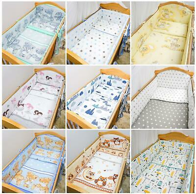 £14.99 • Buy Padded All Round Bumper 4 Sided To Fit Baby Cot CotBed Bedding 120x60 140x70