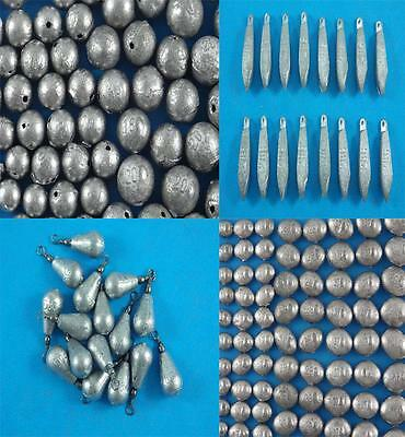 AU12.99 • Buy Ball Snapper Pear Bomb Bean Sinkers Qty 150 To 9 Fishing Tackle Professional