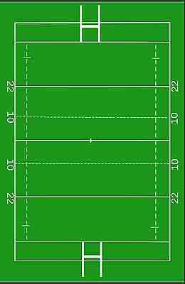 £4.99 • Buy Rugby Pitch Edible Cake Print Topper Wafer Or Icing 7 1/2  X 10 Cake Decoration