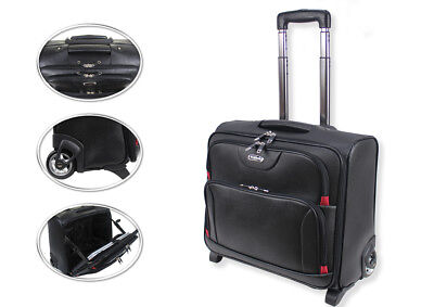 Wheeled Laptop Briefcase Business Office Bag Trolley Case Travel Cabin Bag 801 • 44.95£