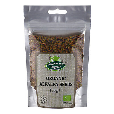 £5.29 • Buy Organic Alfalfa Seeds For Sprouting 125g Certified Organic