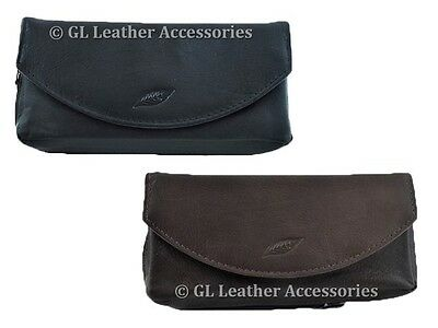 Real Leather Pipe And Tobacco Pouch Case 2 Colors • 15.95£
