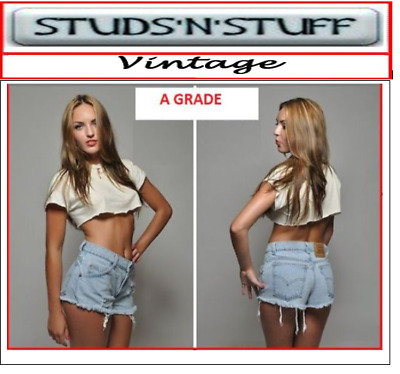 £13.99 • Buy Vintage Womens Levis Denim High Waisted Shorts Jeans Hotpants All Sizes Cut Offs