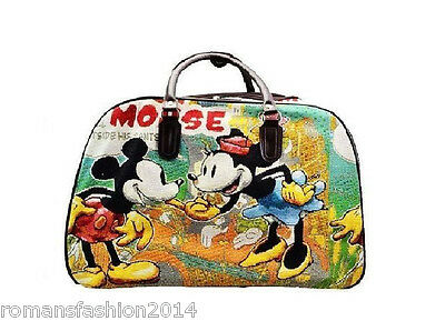 £19.95 • Buy Mickey Mouse Vintage Holdall Trolley Bag,Hand Luggage Travel Large & Medium Size