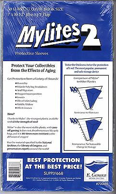 $99.99 • Buy E. GERBER MYLITES 2 MYLAR COMIC BOOK STORAGE BAG CURRENT SIZE 4 X 50 CT Bags