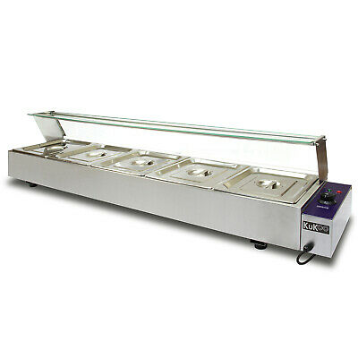 £309.99 • Buy Electric Bain Marie 5x 1/2 Pan Gastronorm Pans Stainless Steel Hot Food Display
