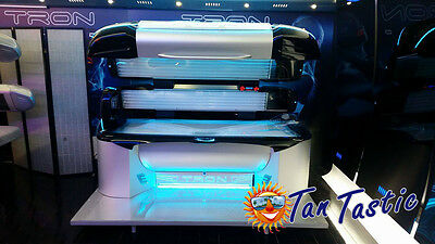 Tron Sunbed Lay Down Tanning Bed High And Low Pressure Liedown Sun Bed Sunbeds . • 17,500£
