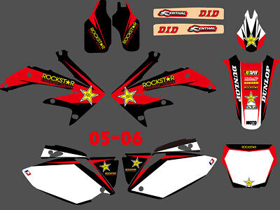 $52.24 • Buy Team Graphics Backgrounds Decals Stickers For Honda CRF450R CRF450  2005-2006 D5