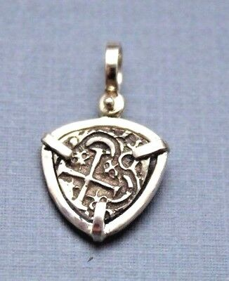 ATOCHA Coin Pendant 925 Sterling Silver Sunken Treasure Shipwreck Coin Jewelry • 48$