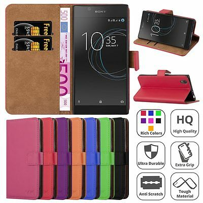 $ CDN7.73 • Buy For Sony Xperia Phone Case Magnetic Flip Card Leather Wallet Stand Experia Cover