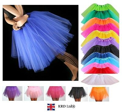 3 LAYERS HIGH QUALITY Ladies Girls Tutu Skirt Fancy Skirts Dress Up Hen Party UK • 7.27£