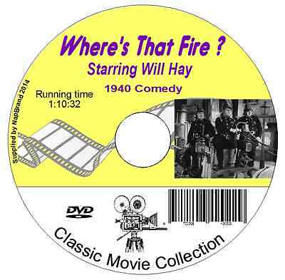 Where's That Fire?  Will Hay- British Comedy Film On DVD 1940 • 1.49£