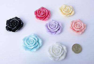 1pc 45mm Resin Flower Cabochons Very Large Roses Card Making Decoden Kawaii • 1.30£