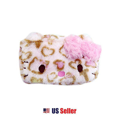 e42b133a38 Sanrio Hello Kitty Leopard Cosmetic Pouch Multi Purpose Case With Bow    Pink • 24.99