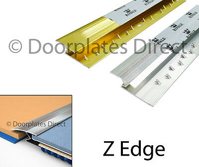 Carpet To Wood / Laminate - Z Edge Trim Bar - Silver Or Brass - Threshold Metal • 1.75£