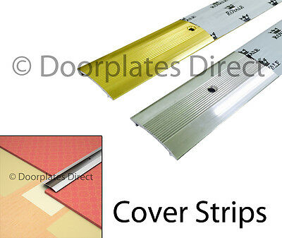 Carpet Cover Strip - Door Bar Trim - Silver Or Brass - Threshold Metal • 1.50£