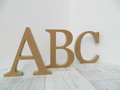Free Standing Wooden Letters 18 Mm Thick MDF Wood 8 Cm,14.5 Cm High Georgia Font • 1.25£