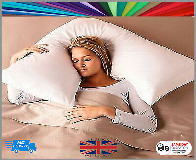 New Luxury V Shape Pillow - Neck, Shoulder, Back Support *Choice Of Pillow Case* • 9.99£