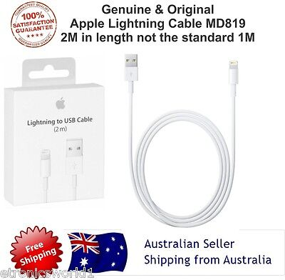 AU15.78 • Buy Original Genuine 2M Apple Lightning Data Cable Charger For IPhone 5S 6S 7 IPad