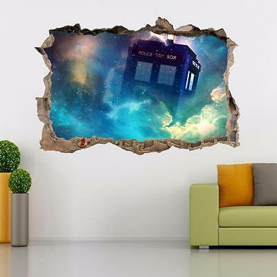 £12.56 • Buy Tardis Dr. Who Smashed Wall Decal Removable Graphic Wall Sticker Art Mural H292