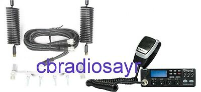 Midland 48 Pro  AM/FM CB Radio & Twin Antenna Kit - Aerials, Harness & Mounts • 175£