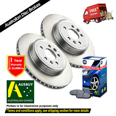 AU59.68 • Buy FOR NISSAN Pulsar N13 240mm 1987-09/1991 Front Disc Rotors (2) & Brake Pads (1)