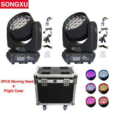 19x15W RGBW 4in1 LED Zoom Moving Head Light Wash With Flight Case/SX-MH1915A • 1,139£