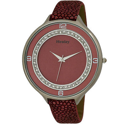 £16.55 • Buy Henley Glamour Ice Diamante Crystal Pink Strap Ladies Fashion Watch H06030.5