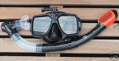 AU45.95 • Buy GoPro Mask And Dry Snorkel  Scuba Diving Snorkeling Silicone Set WIL-DS-GPR