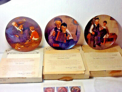 $ CDN10.12 • Buy 3 Edwin M Knowles Norman Rockwell Heritage Collectors Plates - MINT