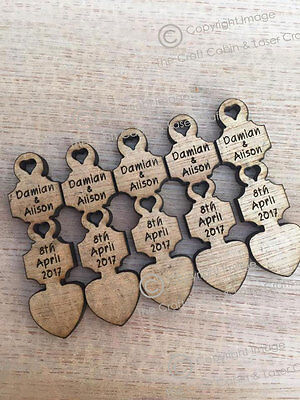 £24.99 • Buy Personalised Wooden Mini Love Spoons, Favours, Table Decor, Vintage Wedding