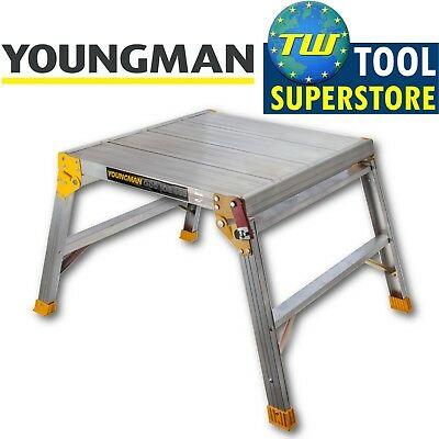 Youngman Odd Job 600 Folding Platform Square Bench Hop Step Up Decorators DIY • 57.95£