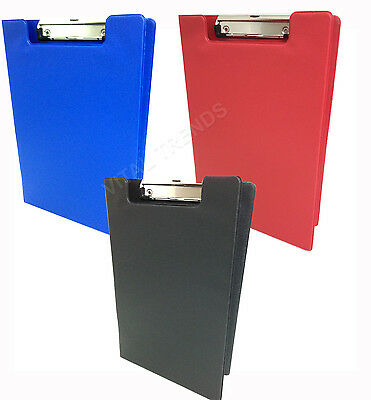 2 X A4 Clipboard Solid Fold-Over New Office Document Holder Filling Clip Board • 5.95£