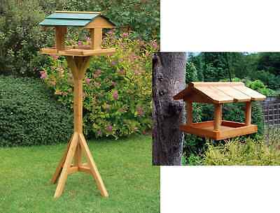 £12.90 • Buy Hanging Wooden Metal Garden Wild Bird Table Traditional Feeding Station Free P&p