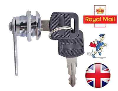 Cam Lock For Door Cabinet Mailbox Drawer Cupboard 16mm 20mm Or 25mm + 2Keys New • 2.95£