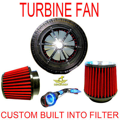$129.99 • Buy Chevrolet Performance Turbo Air Intake Cone Filter With Free Supercharger Fan!