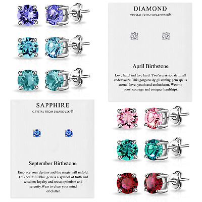 £6.95 • Buy Birthstone Earrings Created With Crystals From Swarovski® By Philip Jones