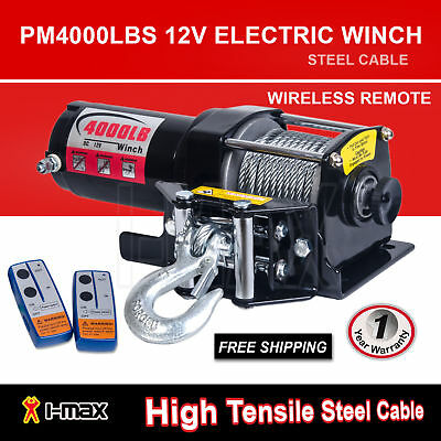 AU139 • Buy I-Max 12V Wireless 4000LBS/1800KGS Electric Cable Winch ATV 4WD 4x4 Boat Truck