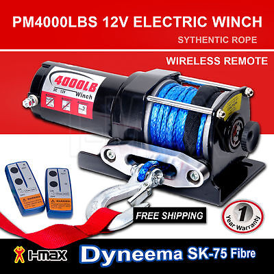 AU159 • Buy I-Max 12V Wireless 4000LBS/1800KGS Electric Rope Winch ATV 4WD 4x4 Boat Truck