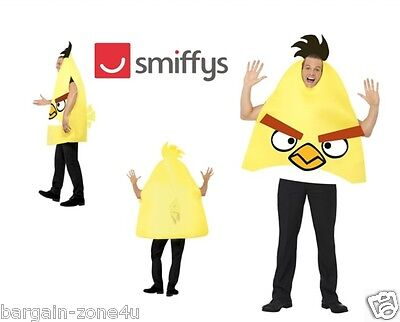 Smiffy's Angry Bird Adult Fancy Dress Party Yellow Costume Clothes Clearance • 5.99£