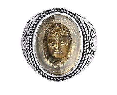 £10.50 • Buy Unique Gold Buddha Stainless Steel Ring For Men/ Women Size 8-12