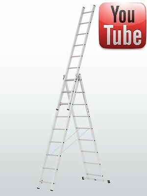 £227.34 • Buy Combi/Combination/Stair/Extension/Triple/Double/2 & 3 Section/Multi/Step Ladder
