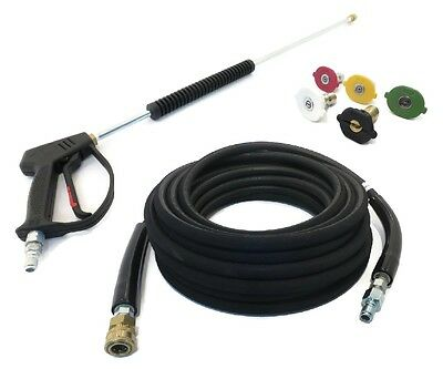 Deluxe SPRAY GUN, WAND, 50' HOSE & TIPS For Power Pressure Washers - 4000 PSI • 87.82£