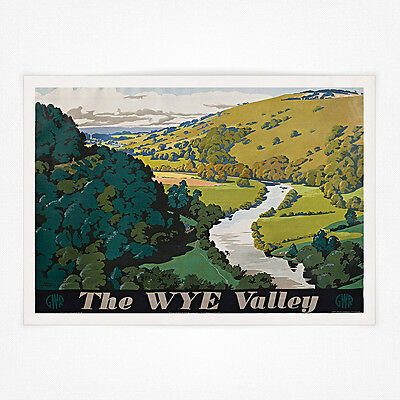 £3.99 • Buy Vintage Travel Railway Poster - A4 - The Wye Valley GWR