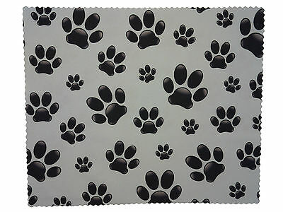 Premium Microfiber Cute Paw Print Spectacle Glasses Lens Cleaning Cloth 7  X 6  • 2.49£