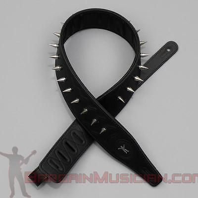 $ CDN50.50 • Buy Leather Guitar / Bass Strap - With Spikes - Adjustable Sizing