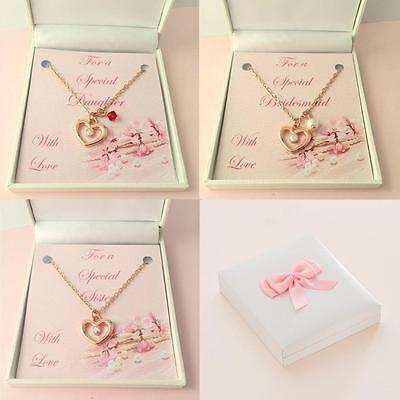 Rose Gold Necklace, Heart On Chain, Rose Gold Plated Jewellery For Women & Girls • 9.99£