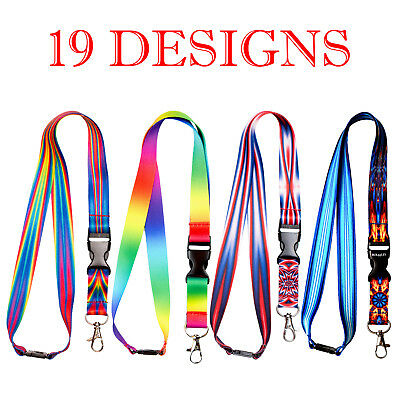 Multicolour Lanyard Neck Strap For Id Badge Holder With Metal Clip • 2.99£