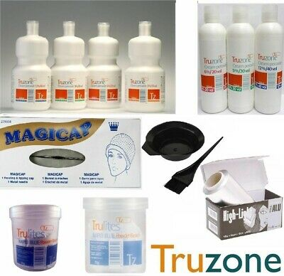Truzone Cream Peroxide-rapid Blue/white Powder Bleach Hair Colour Accessories • 4.99£