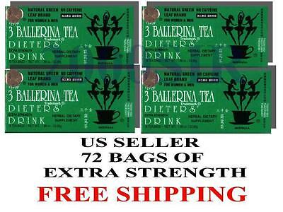 AU21.47 • Buy 4 Box 72 Bags Ballerina Diet Slim Detox Weight Loss Green Tea Supplement US SELL